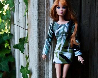 Fashion Doll Dress, Barbie Dress, 1/6 Dress, Green Dress