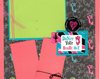 Dance your Heart out - Ballet, 2 Page Scrapbooking Layout Kit