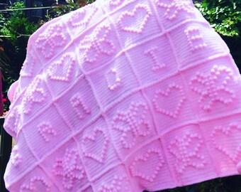 Baby Name Blanket (Customised to Order)