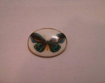 Enamel Butterfly Brooch Made in West Germany