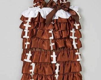 Football Romper - Satin Ruffles - Super Bowl Fashion