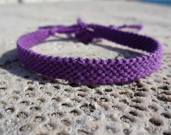 Purple String Bracelet - Macrame Friendship Bracelet