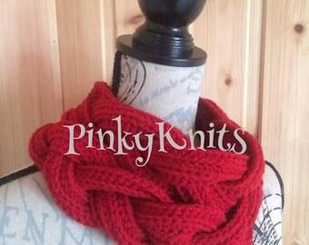Handmade, Crochet plaited cowl scarf, wool, warm, snood, winter, accessories, fashion,