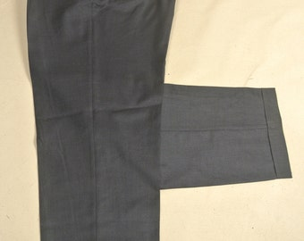Santorelli Medium Blue Worsted Wool Dress Pleat Trousers Men's Waist Size: 40x33