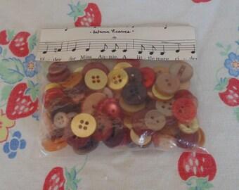 Vintage Buttons Autumn Colors