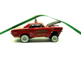 1966 Pontiac GTO Gasser Hot Rod Car Christmas Tree Ornament