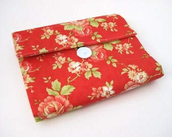 Makeup Bag Organizer | Cosmetic Bag | Travel Makeup Organizer | Zipper Pouch | Red Floral| REISPEICES