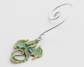 Dragon Christmas Gift Dragon Christmas Ornament Green Dragon Ornament Dragon Gifts Verdigris Patina Dragon Ornament Dragon Lover Gifts