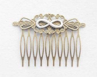 Infinity Hair Comb Bridal Hair Comb Infinity Hair Comb Endless Knot Hair Clip Vintage Hair Pin Classic Hair Clip Victorian Hair Slide Gifts