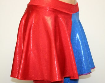 Harley Quinn Suicide Squad Red and Blue Cosplay Skirt.  Suicide Squad Inspired Costume.  All Sizes...Toddler thru Plus!