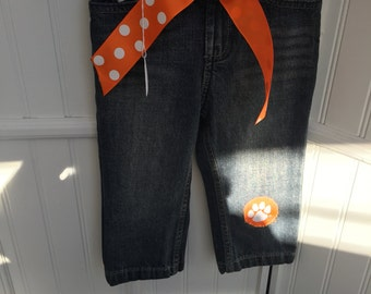 Baby girl's 18 mo Clemson Tiger Pants
