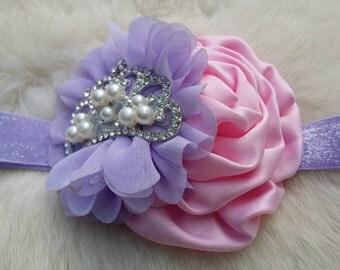 Princess Headband/Flower Girl Headband/Baby Headband/Infant Headband/Newborn Headband/Toddler Headband/Girls Headband/Girls Headband