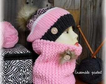 Matching hat and neck warmer