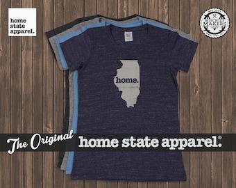 Illinois Home. T-shirt- Womens Cut