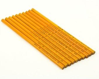 """Vintage French Pencils, set of 10 rare Conté of Paris lead pencils """"Alaska 1000"""""""