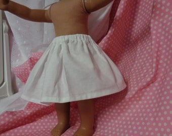 6 Inch-White Cotton 1/2 Slip for an 18 Inch Doll American Girl-Shown on my American Girl Doll