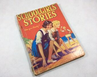 Vintage storybook annual Schoolgirls Stories 1920s 1930s children's stories