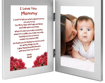 Mommy Gift - Sweet Poem From Child - Birthday or Mother's Day Gift with Sweet Poem in Double Frame - Add Photo (70-598)
