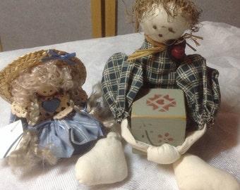 50% Off Summer Sale Shelf Dolls - Vintage
