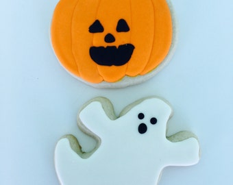 Halloween Sugar Cookies - Ghost Sugar Cookies - Pumpkin sugar Cookies