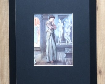 "Framed and Mounted Pygmalion and Galatea I by Sir Edward Coley Burne-Jones - 16"" x 12"" - Religious, Pre - Raphaelites"