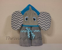 Hooded Elephant Towel. Can be personalized too!