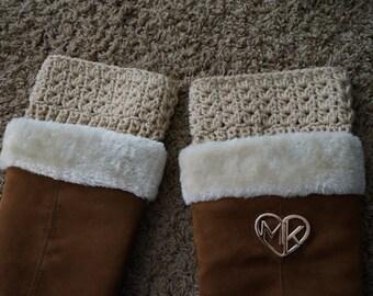 Crochet boot cuff, crochet leg warmer, boot accessories