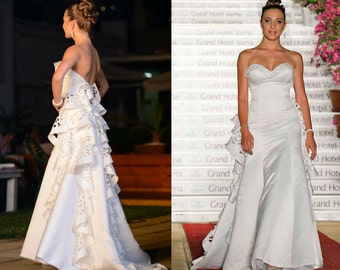 Satin wedding dress, Garden wedding dress, Bridal gown, Country wedding dress, Lace wedding dress, Rustic wedding dress, Wedding gown