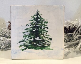 Original Balsam Fir Tree Painting