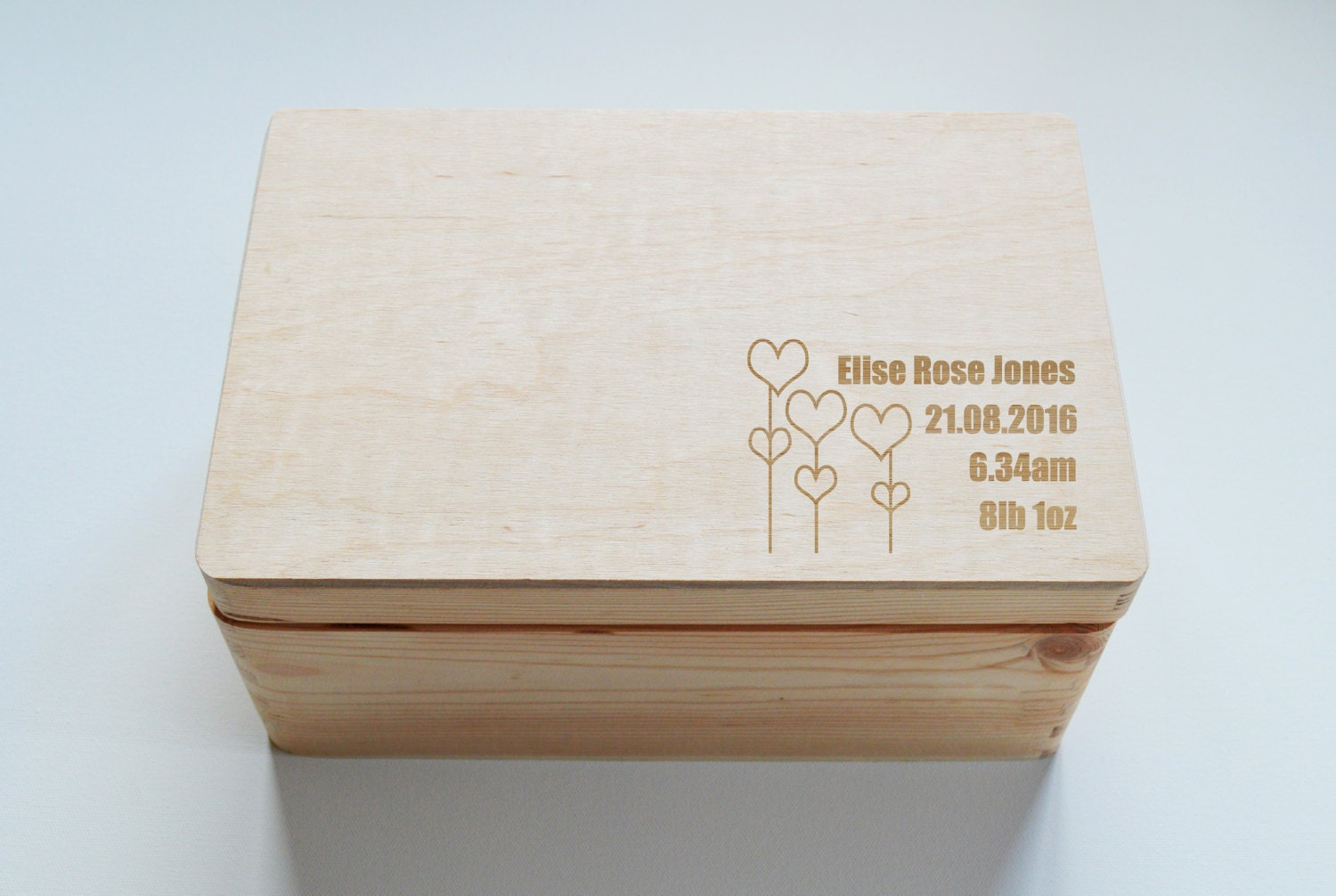 Baby Gift Keepsake Box : Baby keepsake box personalised wooden