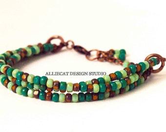 Boho Bracelet, Bohemian Bracelet, Boho Trica Bracelet (6-7 inches)