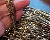 One Hank Size 10/0 Bronze Two-Cut Czech Seed Beads, 40 Grams