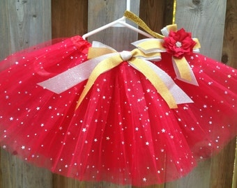 christmas tutu outfit, holiday tutu, christmas gift, red tutu, ballet tutu,ballerina tutu,party favor tutu,flower girl tutu,birthday tutu