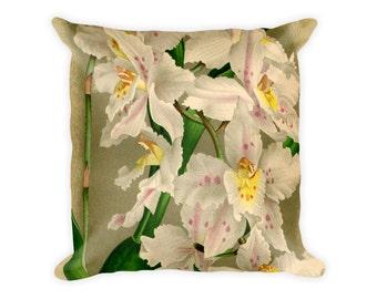 Floral Pillow Orchid Botanical Home Decor Odontoblossum chispum