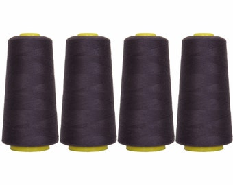 4 Big Cones Dark Navy Serger Sewing Thread 2750 Yd Tex 27 40s2 - Threadart