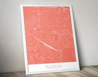 Tuscon Map Art Print