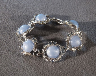 Vintage Silver Tone Shades of Blue Glamorous Jewel Link Bracelet, A Super Stylish Design!~~ **RL