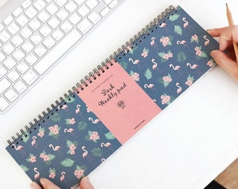 Desk Weekly Pad v.2 - scheduler planner calendar scrapbook notebook simply desk note / 10IC300