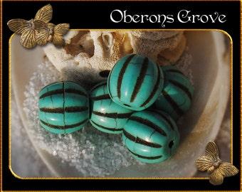 10 turquoise Magnesite Beads 12mm