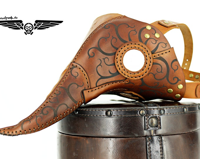Plague Doctor Mask -  Steampunk Mask - Leather Mask - Halloween Mask - LARP - Cosplay Costume