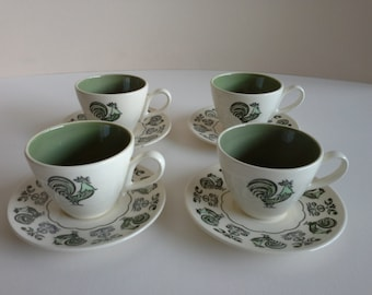 4 Vintage Taylor, Smith and Taylor Cups and Saucer.