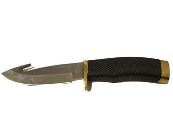 Tacticle Knife Slip-Not Field Tip Satin Finish Stainless Steel 8 1/2″ Blade