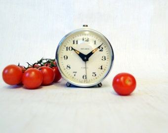 Soviet alarm clock USSR  Soviet Union Vintage period 1970s Home Decor Working