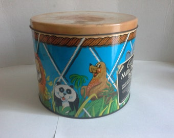 Vintage Cadbury drum tin