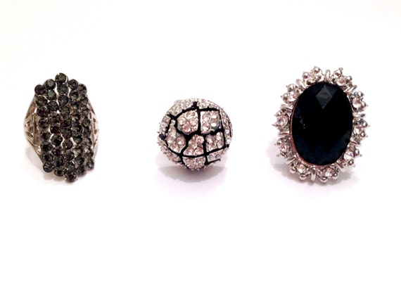 BLACK WIDOW 3 Pc Ring Set By SuicideBarbieBowtiqu On Etsy