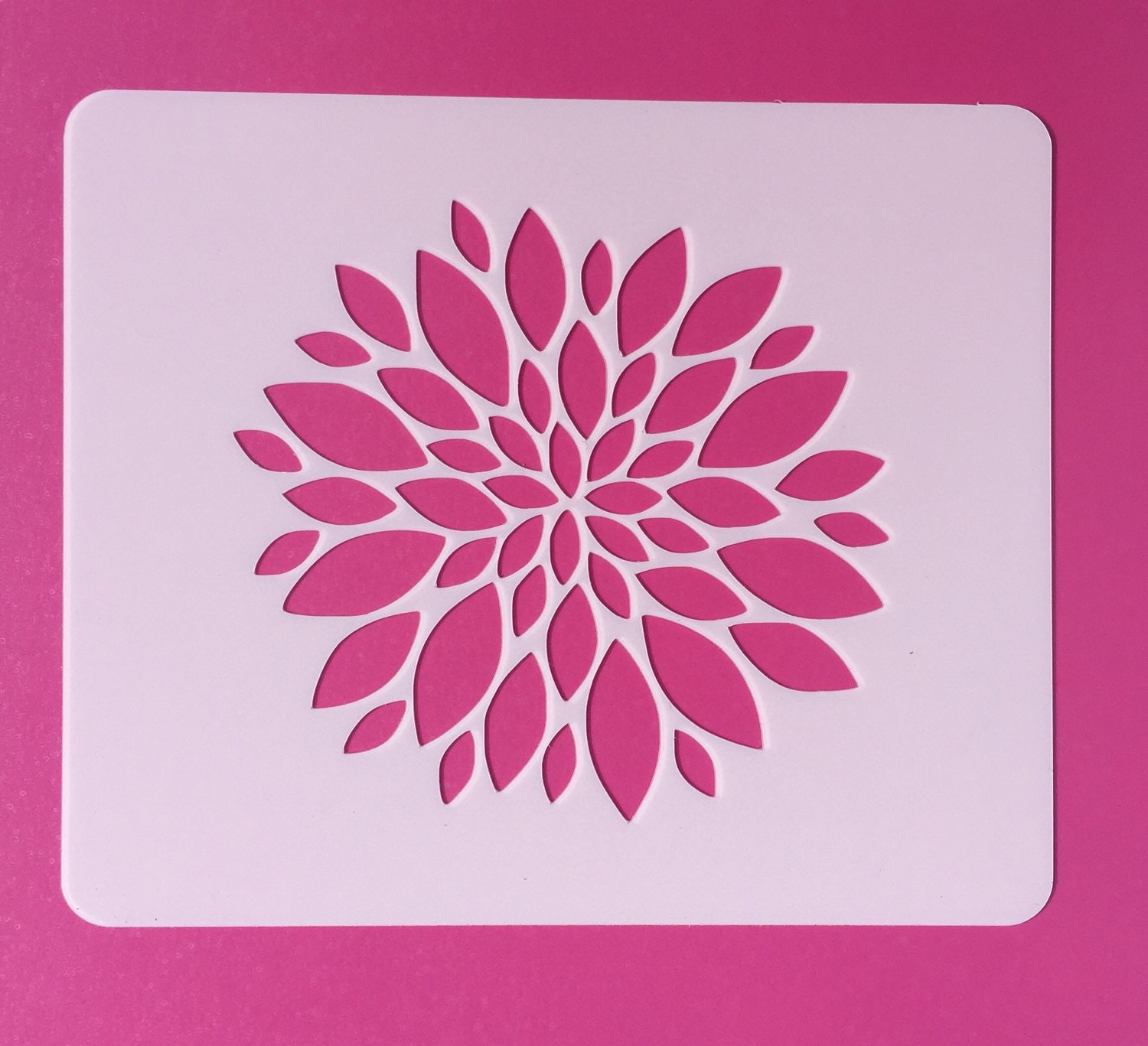 This is a picture of Revered Flower Stencils Printable