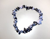 Bracelet baroque Obsidienne flocon de neiges