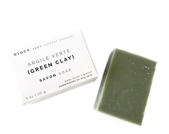 SPA GIFT Green Clay Soap. Sandalwood Bergamot. Combination Oily Acne Skin. Organic Skin Care . Spa Gift. 100% Natural. Handcrafted