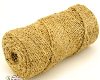 100 Yards 90 Metres Jute String Natural Twine Rustic Country Wedding Craft Wrapping Supplies