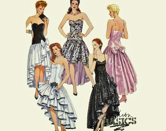 90s Vintage Dress Pattern Fishtail Prom Dress Pattern Strapless Dress Pattern McCalls 4648 SZ 8 10 12 Vintage Sewing Patterns for Women